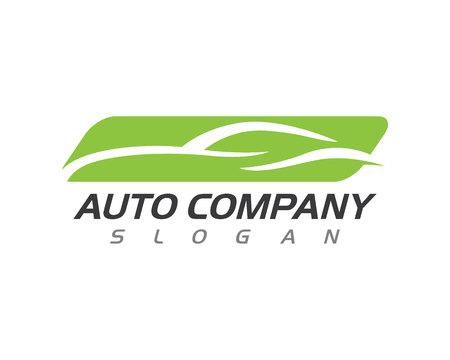 Auto plantilla de logotipo de coche aislado sobre fondo blanco, ilustración vectorial.