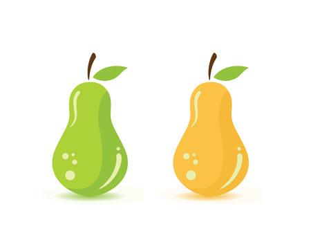 Pear Fruit Food Vector Illustration Illustration