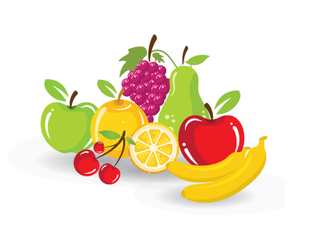 Fruit vector illustration design symbol