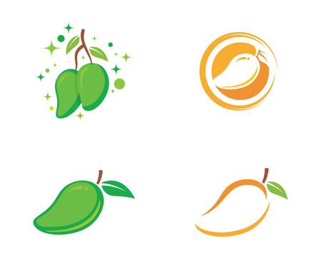 Mango vector logo Illustration