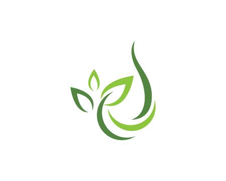 Eco Tree Leaf Logo Template vector illustration.