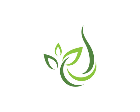 Eco Tree Leaf Logo Template vector illustration.
