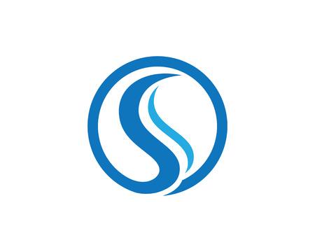 S letter logo, volume icon design template element