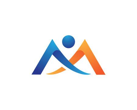 M Letter Logo vector illustration on white background.