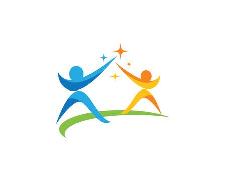 Community care Logo vector illustration.