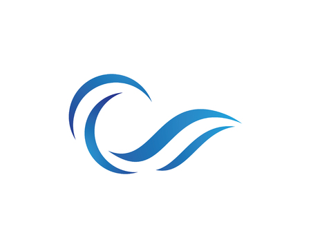 Water Wave Logo Template 矢量图像