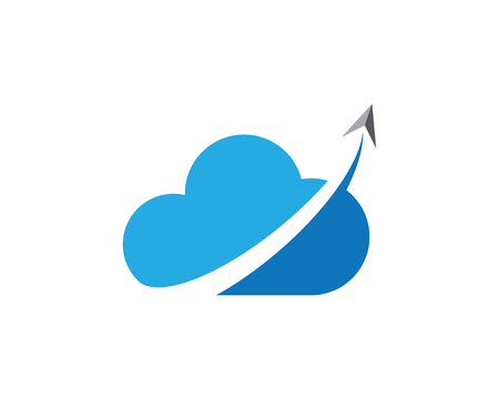 Cloud arrow Logo Template