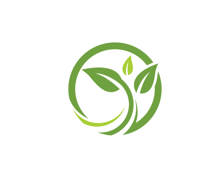 Boom blad logo's natuurelement vector pictogram