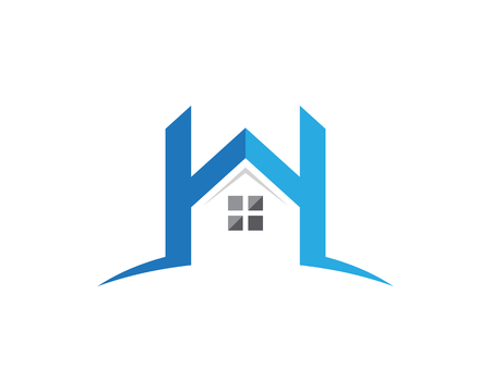 house logo: Property and Construction Logo design for business corporate sign Illustration
