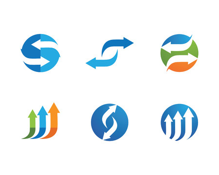 Arrows vector illustration icon emblem Template design Illustration