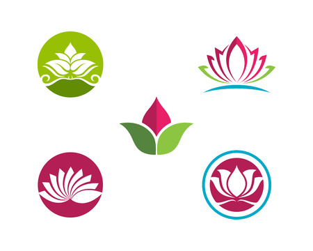 Beauty flowers design Template icon