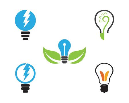 temlate: Vector light bulb symbol logo temlate vector design