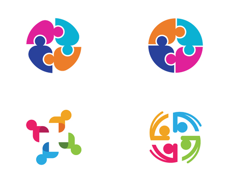 education concept: Adoption and community care Logo template vector icon