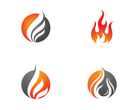 Fire flame Logo Template vector icon