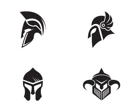 male symbol: Spartan helmet logo template vector icon design