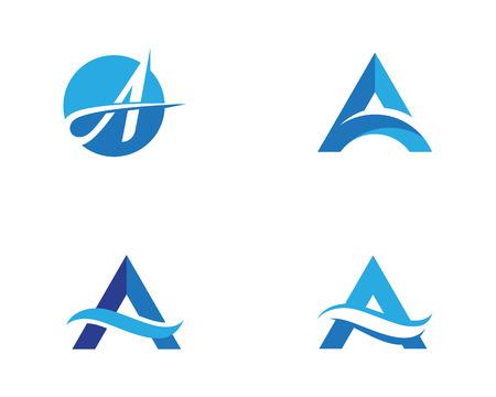 A Letter vector illustration icon Logo Template design