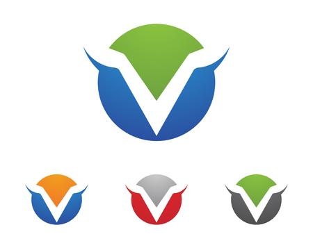 modern business: V Letter Logo Business Template Vector icon design Illustration