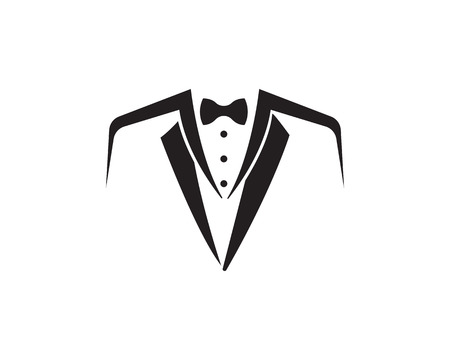 Tuxedo Logo template vector icon illustration design Vettoriali