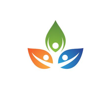 Human character logo logo Gezondheidszorg logo teken