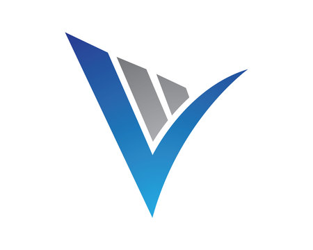 V Letter Logo Template vector illustration design