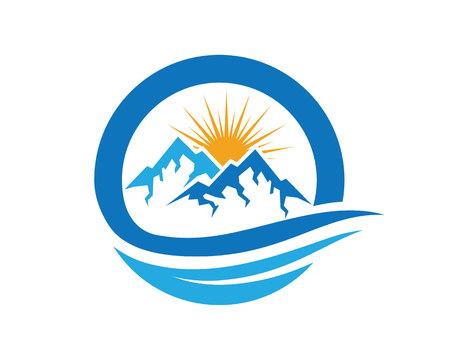 tibet: Mountains Logo Template