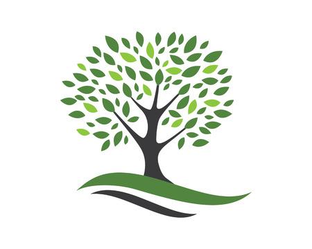 Tree icon logo template vector illustration 일러스트