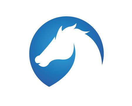 Horse Logo Template Vector illustration design Stock Illustratie