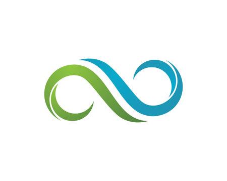 Infinity Design Infinity logo Vector Logo sjabloon