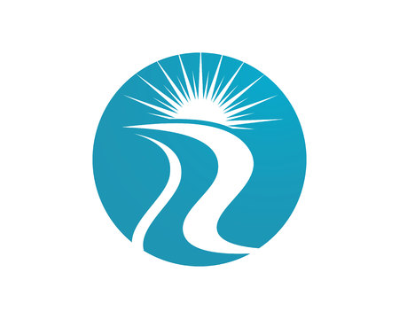 water s: River Logo icon Template vector icon Illustration