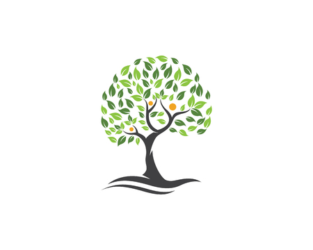Family tree symbol icon logo design template illustration