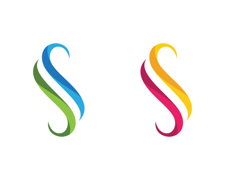 S letter logo icon design template vector illustration Illustration