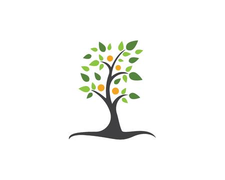 Árbol genealógico símbolo icono logotipo diseño plantilla ilustración. Logos