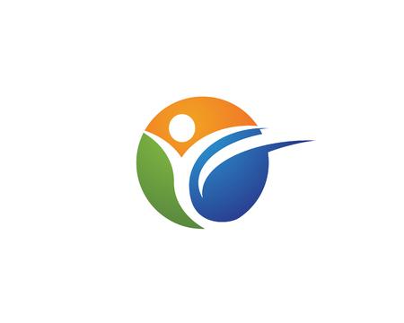 Zeichen-Zeichen des menschlichen Charakters Gesundheitswesen-Logozeichen Logo