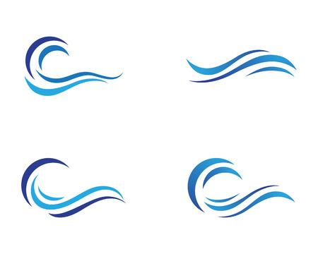 Diseño de ilustración de vector de plantilla de onda de agua Ilustración de vector