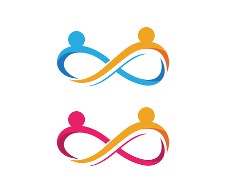Infinity adoption and community care icon template