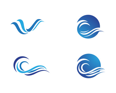 Water wave template vector illustration design