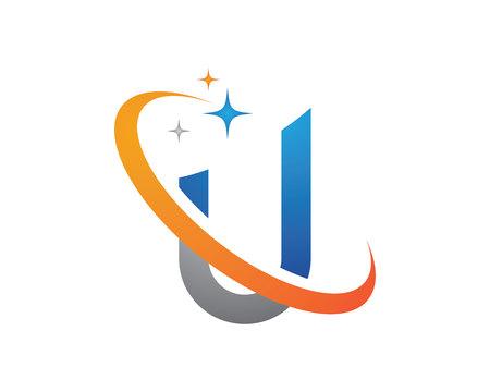 Letter U business template design vector icon. Illustration