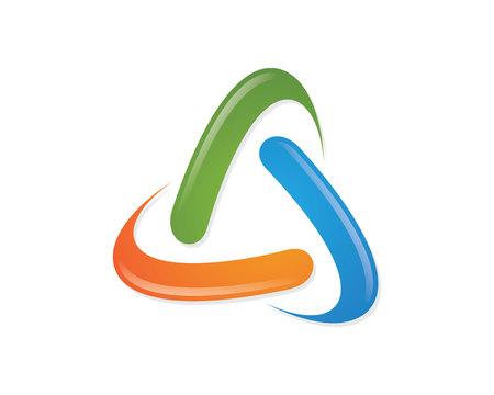 triángulo icono de vector de plantilla de logotipo Logos