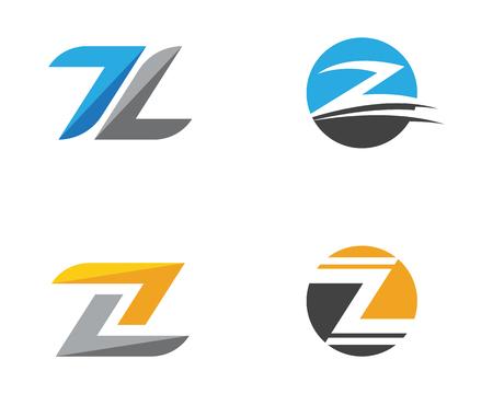 Z Letter vector illustration icon Logo Template design
