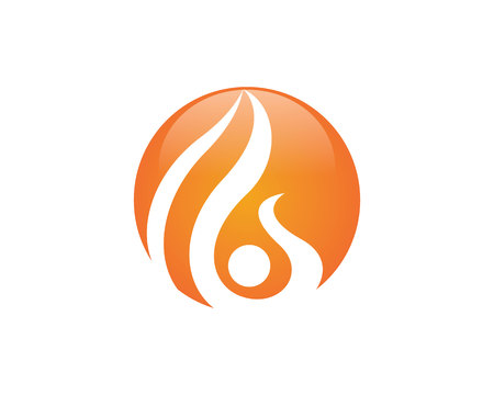 Fire flame icon template vector icon, gas and energy icon concept.