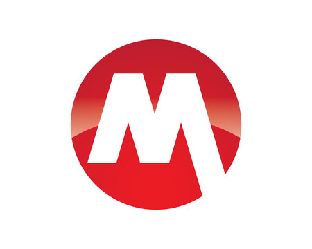 m logo lettre modèle vecteur icône