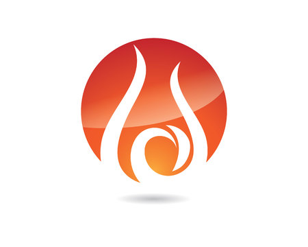 igniting: Fire flame Logo Template vector icon Oil, gas and energy logo concept