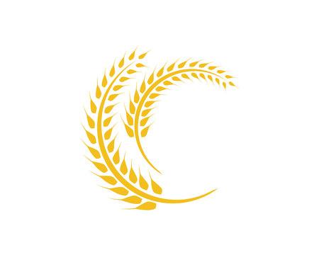 Agricoltura grano Logo Template design vettoriale icona Logo