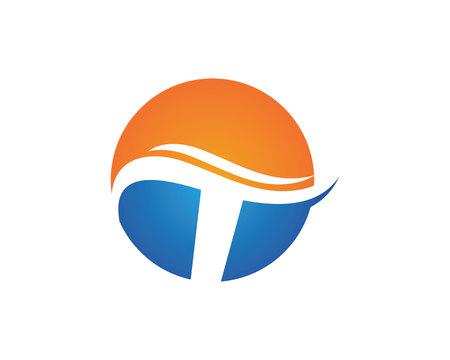 t logo lettre entreprise vecteur modèle icône