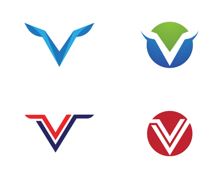 V Letter template icon