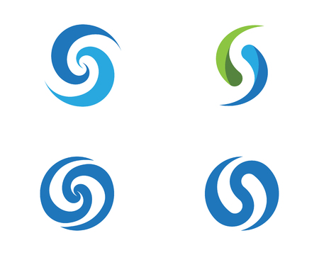 Business corporate S letter template icon