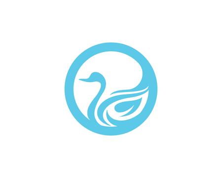 Logo van het embleem van de zwaan het vectorillustratie
