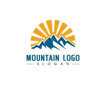 tibet: Mountain icon  Logo Business Template Vector