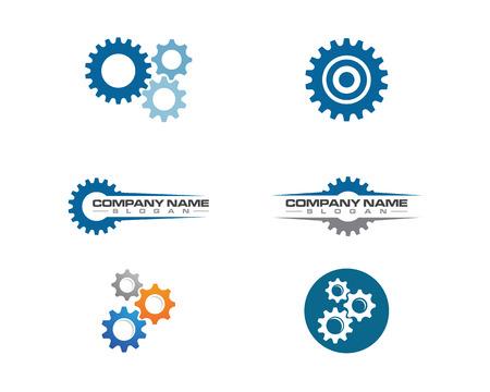 Przekładnia loga szablonu wektorowej ikony ilustracyjny projekt