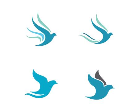 Bird wing Dove Logo Template vector illustration Illustration